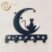 Cuier metalic de perete - Pisică