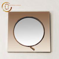 Oglindă rotundă - Sepia