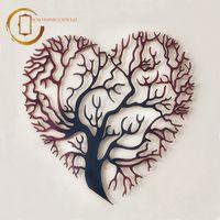 Plachetă decorativă colorată perete Copacul inima - Iubire infinită