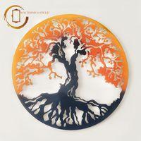 Plachetă decorativă perete Copacul vieții - Răsărit de soare