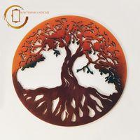 Plachetă decorativă perete Copacul vieții - Apus de soare
