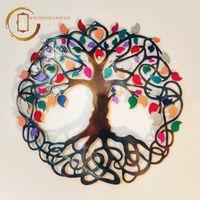 Plachetă decorativă perete Copacul vieții  multicolor - Bucurie