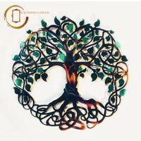 Plachetă decorativă perete Copacul infinitului verde - Seninătate