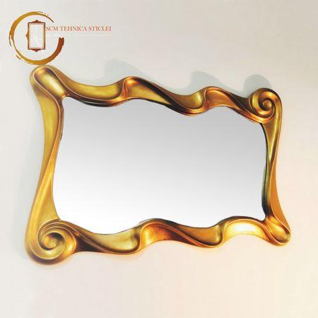 Oglindă cu ramă aurie turcească