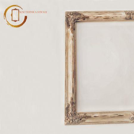 Ramă din lemn vintage recondiționată